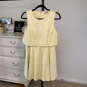 Yellow Jacquard Dress